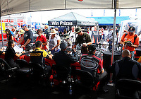 Sep 14, 2013; Charlotte, NC, USA; Toyota Pit Pass hospitality display on the NHRA manufacturers midway during qualifying for the Carolina Nationals at zMax Dragway. Mandatory Credit: Mark J. Rebilas-