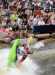 June 5, 2009:  Men's Freestyle Kayak competition at the Teva Mountain Games, Vail, Colorado.