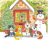 Kate, CHRISTMAS ANIMALS, WEIHNACHTEN TIERE, NAVIDAD ANIMALES, paintings+++++Pets by door #,GBKM394,#xa#