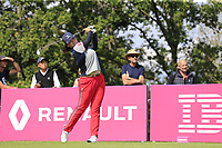 Angel Yin (USA) tees off the 5th tee during Friday's Round 2 of The Evian Championship 2018, held at the Evian Resort Golf Club, Evian-les-Bains, France. 14th September 2018.<br /> Picture: Eoin Clarke | Golffile<br /> <br /> <br /> All photos usage must carry mandatory copyright credit (&copy; Golffile | Eoin Clarke)