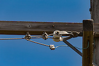 Electric poweline insulators.