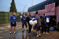 The Bath Rugby team arrive at the Municipal Stadium of Monigo. European Rugby Champions Cup match, between Benetton Rugby and Bath Rugby on January 20, 2018 at the Municipal Stadium of Monigo in Treviso, Italy. Photo by: Patrick Khachfe / Onside Images