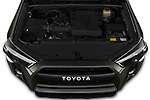 Car Stock 2020 Toyota 4Runner TRD-Pro 5 Door SUV Engine  high angle detail view