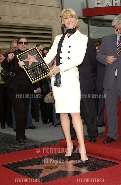 Singer CELINE DION on Hollywood Blvd where she was honored with the 2,244th star on the Hollywood Walk of Fame..January 6, 2004