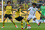 06.10.2018, Signal Iduna Park, Dortmund, GER, DFL, BL, Borussia Dortmund vs FC Augsburg, DFL regulations prohibit any use of photographs as image sequences and/or quasi-video<br /> <br /> im Bild v. li. im Zweikampf Marco Reus (#11, Borussia Dortmund) Caiuby (#30, FC Augsburg) <br /> <br /> Foto &copy; nph/Horst Mauelshagen