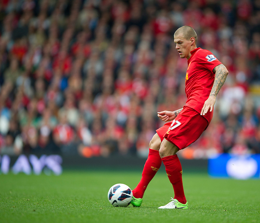 Liverpool's Martin Skrtel ..Football - Barclays Premiership - Liverpool v Manchester United - Sunday 23rd September 2012 - Anfield - Liverpool..