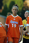 24 August 2012: Florida's Havana Solaun. The University of North Carolina Tar Heels played the University of Florida Gators to a 0-0 overtime tie at Fetzer Field in Chapel Hill, North Carolina in a 2012 NCAA Division I Women's Soccer game.