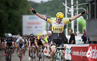 victory for Moreno Hofland (NLD/LottoNL-Jumbo)<br /> <br /> stage 4: Hotel Verviers - La Gileppe (187km)<br /> 29th Ster ZLM Tour 2015
