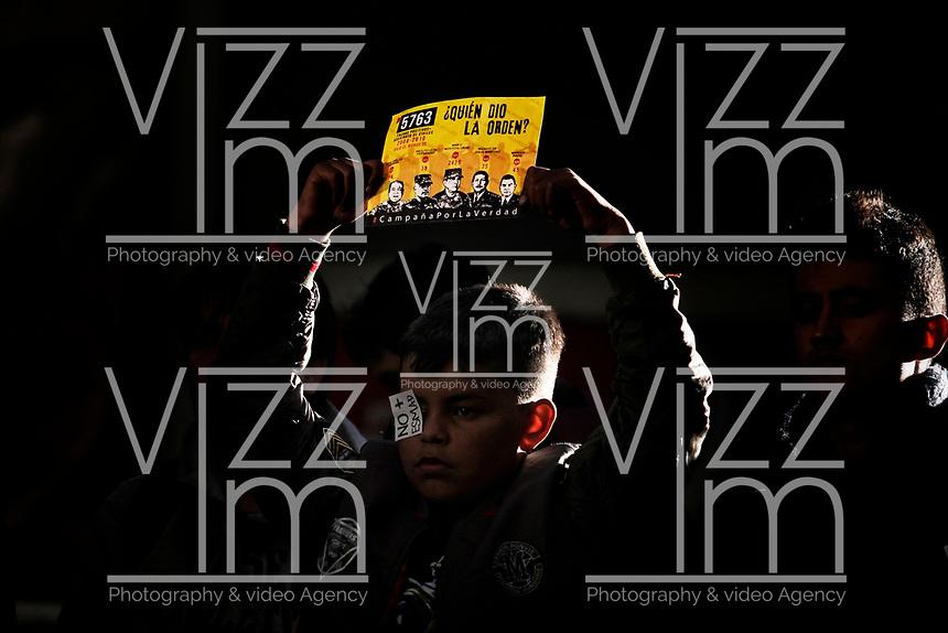 BOGOTÁ - COLOMBIA, 27-12-2019:Conmemoración de la muerte de Dylan Cruz por parte de un capitán del Smad de la Policia Nacional./ Commemoration of the death of Dylan Cruz by a captain of the Smad of the National Police.. Photo: VizzorImage / Diego Cuevas / Contribuidor
