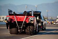 Feb 7, 2020; Pomona, CA, USA; NHRA funny car driver Alexis DeJoria during qualifying for the Winternationals at Auto Club Raceway at Pomona. Mandatory Credit: Mark J. Rebilas-USA TODAY Sports