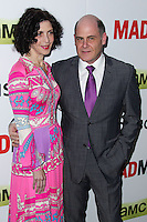 "HOLLYWOOD, LOS ANGELES, CA, USA - APRIL 02: Linda Brettler, Matthew Weiner at the Los Angeles Premiere Of AMC's ""Mad Men"" Season 7 held at ArcLight Cinemas on April 2, 2014 in Hollywood, Los Angeles, California, United States. (Photo by Xavier Collin/Celebrity Monitor)"