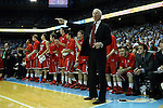 21 December 2013: Davidson head coach Bob McKillop. The University of North Carolina Tar Heels played the Davidson College Wildcats at the Dean E. Smith Center in Chapel Hill, North Carolina in a 2013-14 NCAA Division I Men's Basketball game. UNC won the game 97-85 in overtime.