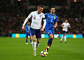 27th March 2018, Wembley Stadium, London, England; International Football Friendly, England versus Italy; Jamie Vardy of England runs away from Mattia De Sciglio of Italy