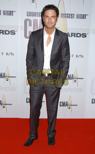 CHUCK WICKS.2007 CMA Awards, Country Music's Biggest Night, held at the Sommet Center, Nashville, Tennessee, USA, .07 November 2007..full length grey suit.CAP/ADM/LF.©Laura Farr/AdMedia/Capital Pictures.