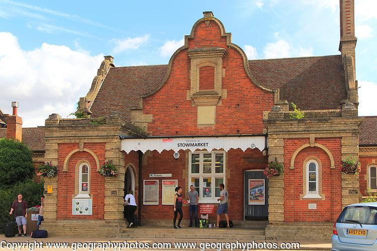 Railway train station building, Stowmarket, Suffolk, England, UK 1846 architect Frederick Barnes