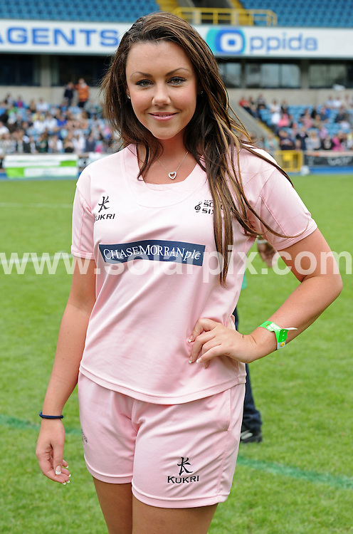 **ALL ROUND PICTURES FROM SOLARPIX.COM**.**WORLDWIDE SYNDICATION RIGHTS**.Michelle Heaton playing at the Soccer Six football match in London today..JOB REF:    6433   SSD     DATE: 18.05.08.**MUST CREDIT SOLARPIX.COM OR DOUBLE FEE WILL BE CHARGED* *UNDER NO CIRCUMSTANCES IS THIS IMAGE TO BE REPRODUCED FOR ANY ONLINE EDITION WITHOUT PRIOR PERMISSION*