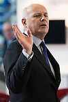 © Joel Goodman - 07973 332324 . 02/10/2016 . Birmingham , UK . IAIN DUNCAN-SMITH at the ICC for the first day of the Conservative Party Conference at the International Convention Centre in Birmingham . Photo credit : Joel Goodman