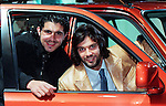 Gennaro Gattuso and Marco Negri at the Scottish Motor Show, Glasgow in November 1997