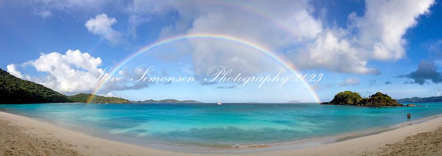 Rainbow over Trunk Bay<br /> Virgin Islands National Park<br /> St. John<br /> U.S. Virgin Islands