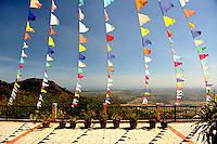 Flags on Ta Cu mountain, Binh Thuan Province, Vietnam