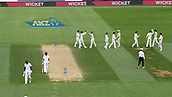 4th December 2017, Basin Reserve, Wellington, New Zealand; International Test Cricket, Day 4, New Zealand versus West Indies;  Neil Wagner and team mates celebrate the wicket of Holder