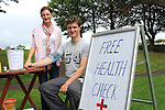 Ailish Monks and Gareth Duffy at the Free Health Check at the Pilates and Tai Chi Classes Held by Body Right at Dominics Park in aid of the Tania McCabe Foundation...(Photo credit should read Jenny Matthews www.newsfile.ie)....This Picture has been sent you under the conditions enclosed by:.Newsfile Ltd..The Studio,.Millmount Abbey,.Drogheda,.Co Meath..Ireland..Tel: +353(0)41-9871240.Fax: +353(0)41-9871260.GSM: +353(0)86-2500958.email: pictures@newsfile.ie.www.newsfile.ie.