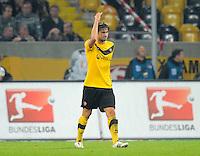 Fussball, 2. Bundesliga, Saison 2011/12, SG Dynamo Dresden - Eintracht Frankfurt, Montag (26.09.11), gluecksgas Stadion, Dresden. Dresdens Romain Bregerie enttaeuscht.