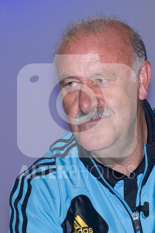 01.06.2012. Telecinco presents its official schedule for the transmission of Eurocup 2012 to the Ciudad del Futbol of Las Rozas, Madrid. In the image Vicente del Bosque  (Alterphotos/Marta Gonzalez)