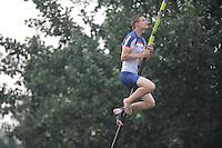 FIERLJEPPEN: IT HEIDENSKIP: 09-07-2014, Nard Brandsma wint met 20.33m, ©foto Martin de Jong
