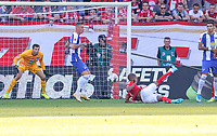 Seitfallzieher Jeremiah St. Juste (1. FSV Mainz 05) - 14.09.2019: 1. FSV Mainz 05 vs. Hertha BSC Berlin, 4. Spieltag Bundesliga, OPEL Arena<br /> DISCLAIMER: DFL regulations prohibit any use of photographs as image sequences and/or quasi-video.