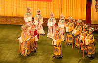 Beijing Opera in China colorful costumes on stage in Beijing China