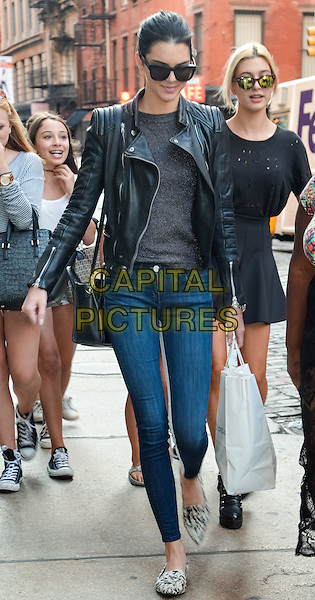 NEW YORK, NY - AUGUST 29: Kendall Jenner and Hailey Baldwin walking in Soho in New York, New York on August 29, 2014. <br /> CAP/MPI67<br /> &copy;MPI67I/Capital Pictures