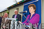 Principal Irene O'Keeffe addresses the crowd at the opening of new extension in Coolick NS on Friday morning