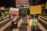 SÃO PAULO-SP-28,08,2014- MARCHA DA MARCHA DA INDEPENDÊNCIA PELA PELA LIBERDADE- Manifestantes durante a Marcha da Independência pela Liberdade na Avenida Paulista,região centro sul da cidade de São Paulo,na noite dessa quinta-feira,28(Foto:Kevin David/Brazil Photo Press)