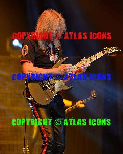HOLLYWOOD FL - OCTOBER 30 : Glenn Tipton of Judas Priest performs at Hard Rock Live held at the Seminole Hard Rock Hotel & Casino on October 30, 2014 in Hollywood, Florida. : Credit Larry Marano (C) 2014