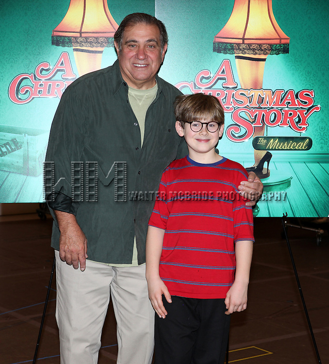 Dan Lauria and Johnny Rabe attends the Meet & Greet for 'A Christmas Story, The Musical' at the New 42nd Street Studios on 10/22/2012 in New York City.