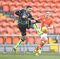 Blackpool's Ollie Turton in action with Bristol Rovers' Liam Sercombe<br /> <br /> Photographer Mick Walker/CameraSport<br /> <br /> The EFL Sky Bet League One - Blackpool v Bristol Rovers - Saturday 13th January 2018 - Bloomfield Road - Blackpool<br /> <br /> World Copyright &copy; 2018 CameraSport. All rights reserved. 43 Linden Ave. Countesthorpe. Leicester. England. LE8 5PG - Tel: +44 (0) 116 277 4147 - admin@camerasport.com - www.camerasport.com