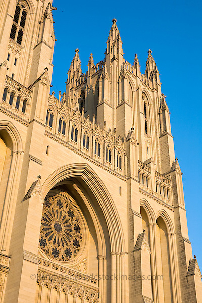 National Cathedral Washington Dc<br /> Washington National Cathedral, whose official name is the Cathedral Church of Saint Peter and Saint Paul, is a cathedral of the Episcopal Church located in Washington, D.C., the capital of the United States. It is of neogothic design, and it is the sixth largest cathedral in the world, the second largest in the United States, and the fourth tallest structure in Washington, D.C. Its final design shows a mix of influences from the various Gothic architectural styles of the Middle Ages, identifiable in its pointed arches, flying buttresses, a variety of ceiling vaulting, stained-glass windows and carved decorations in stone, and by its three similar towers, two on the west front and one surmounting the crossing. The cathedral is located at Massachusetts and Wisconsin Avenues in the northwest quadrant of Washington. It is listed on the National Register of Historic Places. In 2007, it was ranked third on the List of America's Favorite Architecture by the American Institute of Architects.