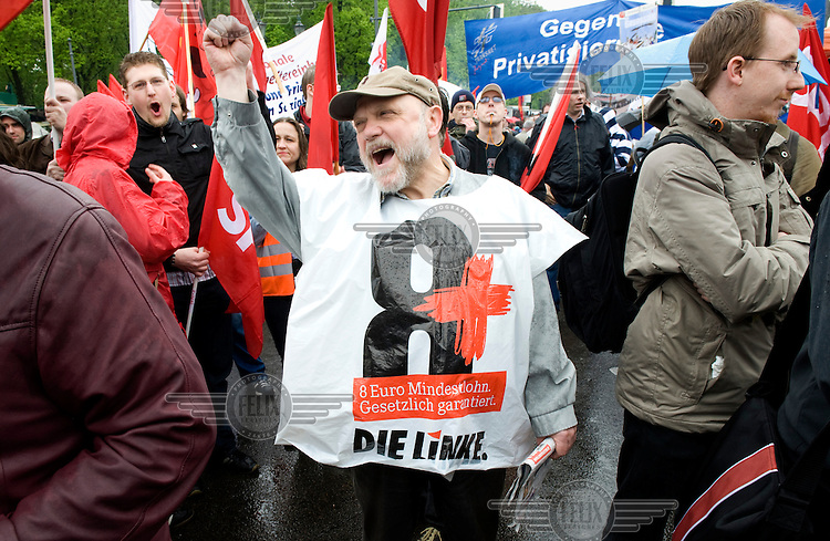 A May Day demonstration by the DGB (Confederation of German Trade Unions) in Berlin.