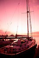 sailboat at sunset, .Key West, Florida.
