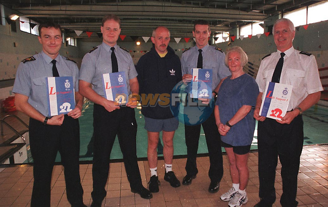 (Swimming Awards) Drogheda Lifesaving Club members Receiving there certificates LtoR Firefighter Karl Carton,(Bronze Award) FireFighter Mark McElearney,(Bronze Award) Barry O'Brien Instructor, FireFighter Nigel Newman,(Bronze Award) Josephhine O'Brien Examiner and Station Officer Peter Leahy (Mertit Award)