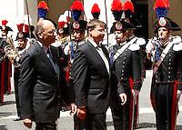 20130711 ROMA-ESTERI: LETTA INCONTRA IL PRIMO MINISTRO LETTONE DOMBROVSKIS
