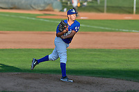 Jorge Gonzalez (38) of the Ogden Raptors delivers a pitch to the plate against the Idaho Falls Chukars in Pioneer League action at Lindquist Field on September 3, 2016 in Ogden, Utah. The Chukars defeated the Raptors 3-0. (Stephen Smith/Four Seam Images)