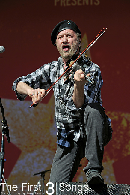 Sergey Ryabtsev of Gogol Bordello performs during Day 1 of the Orlando Calling music festival at Citrus Bowl Park in Orlando, Florida on November 12, 2011.