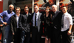 HOLLYWOOD, CA - JULY 07: Morgan Freeman, Gary Oldman, Christian Bale, Anne Hathaway, Michael Caine, Christopher Nolan, Joseph Gordon-Levitt attend the Christopher Nolan Hand & Footprint Ceremony At Grauman's Chinese Theatre on July 7, 2012 in Hollywood, California.