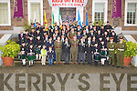 PHOTO CALL: A photo shoot of the Thomas Ashe Kerry Branch of ONE ,St John's Pipe Band and MP from the 32nd Bn, on the Ashe Memorial steps on Sunday after mass in St John's Church, Tralee for deceased members, on Sunday..................... ..........
