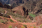 South Kaibab Trail descending to the Colorado River and the Black Bridge, Grand Canyon National Park, Arizona. .  John leads hiking and photo tours throughout Colorado. . John offers private photo tours in Grand Canyon National Park and throughout Arizona, Utah and Colorado. Year-round.
