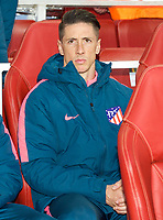 Fernando Torres of Atletico Madrid pre match during the UEFA Europa League 1st leg match between Arsenal and Atletico Madrid at the Emirates Stadium, London, England on 26 April 2018. Photo by Andrew Aleksiejczuk / PRiME Media Images.