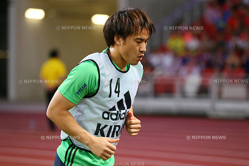 Shinji Okazaki (JPN), NOVEMBER 12, 2015 - Football / Soccer : FIFA World Cup Russia 2018 Asian Qualifier Second Round Group E match between Singapore 0-3 Japan at the National stadium, in Singapore. (Photo by Yohei Osada/AFLO SPORT)