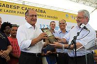 SÃO PAULO, SP, 08.11.13 - ANÚNCIO DA CRIAÇÃO DO PARQUE SABESP CANGAÍBA - GERALDO ALCKMIN,<br /> governador de São Paulo, anuncia a criação do Parque Sabesp Cangaíba.(<br /> Foto: Geovani Velasquez / Brazil Photo Press)